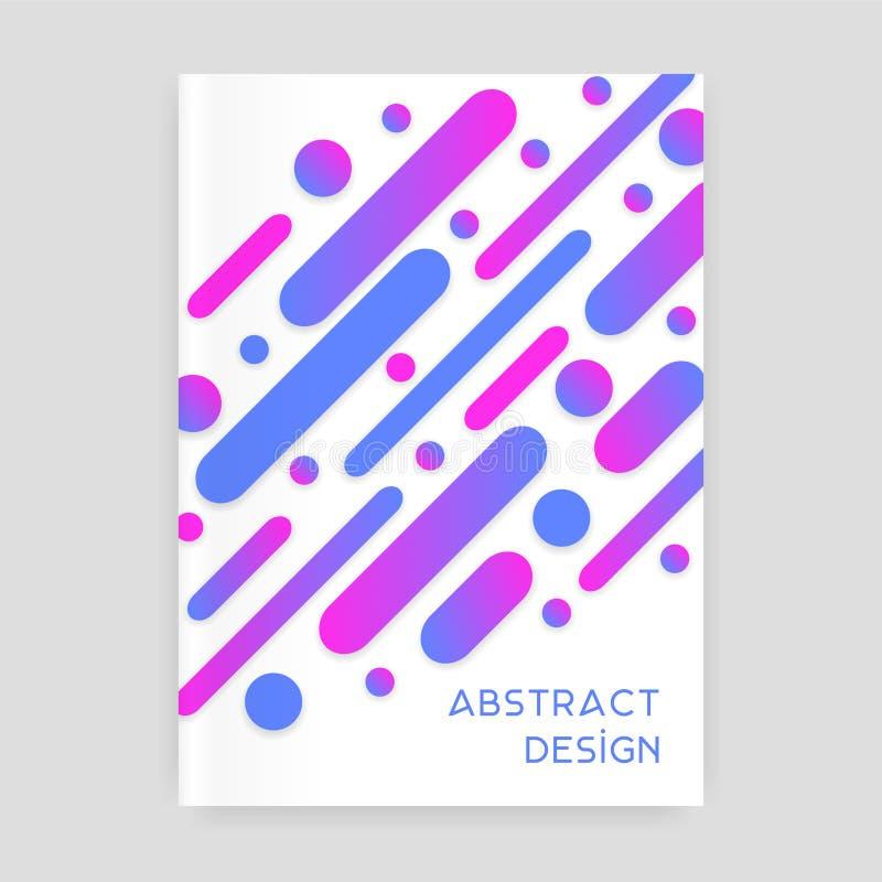 Abstrakcjonistyczny broszurka projekt z zaokrąglonymi elementami ilustracja wektor