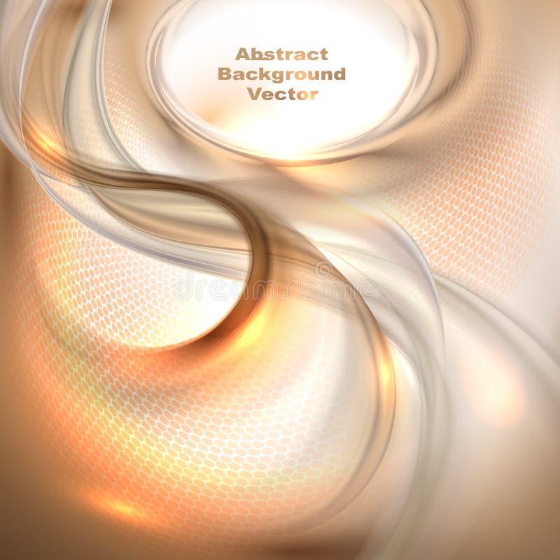 Abstrakcjonistyczny brown falowania tło ilustracja wektor