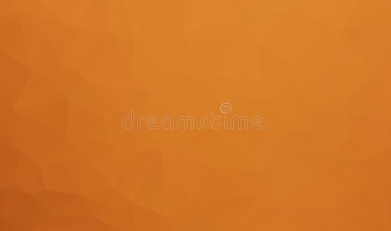 Abstrakcjonistyczny Brown tło geometryczni kształty Poligonalny mozaiki tło, Niski Poli- styl, Retro trójboka tło Kolorowy mo ilustracja wektor