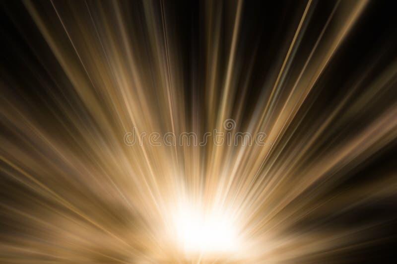 Abstrakcjonistyczny brown złota światło obrazy stock