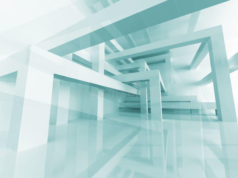 Abstrakcjonistyczny budowy struktury architektury projekta tło ilustracji