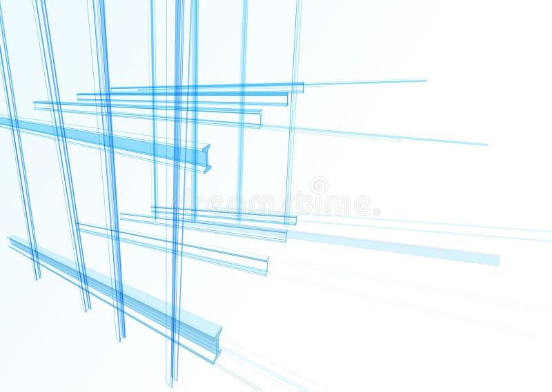 Abstrakcjonistyczny budynek od linii ilustracja wektor