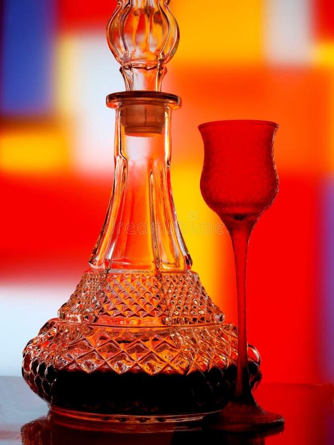 abstrakcjonistyczny butelki szkła wino fotografia royalty free