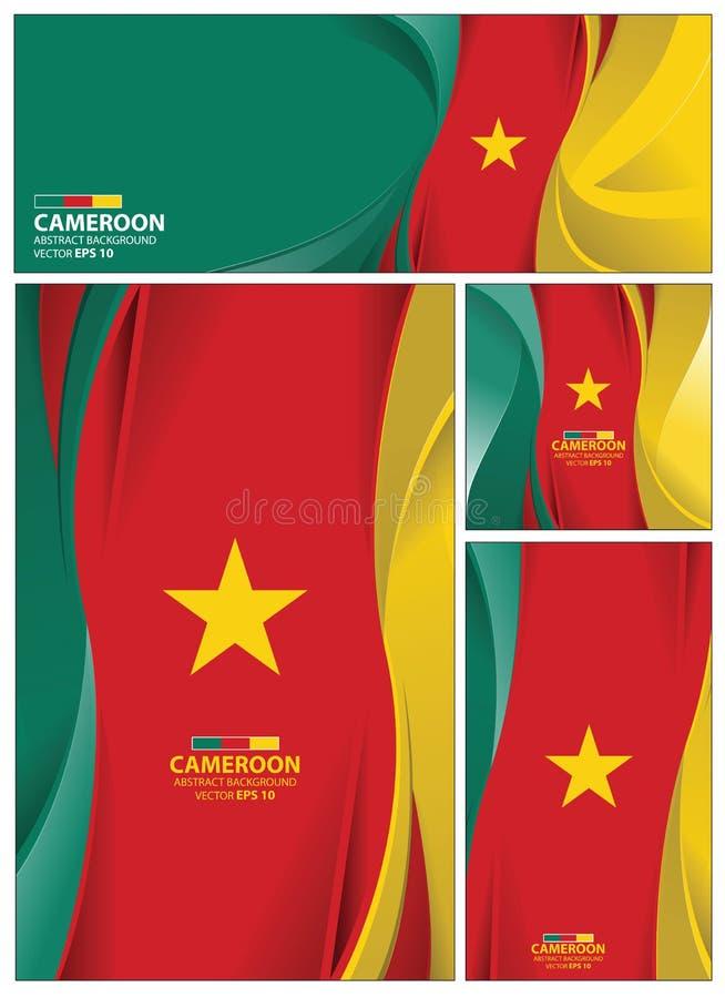 Abstrakcjonistyczny Cameroon flaga tło ilustracji