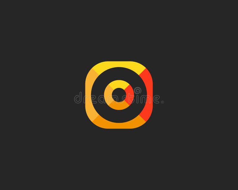 Abstrakcjonistyczny celu loga projekt Celu kreatywnie symbol Ogólnoludzka wektorowa ikona Round bramkowy sukcesu znak ilustracja wektor
