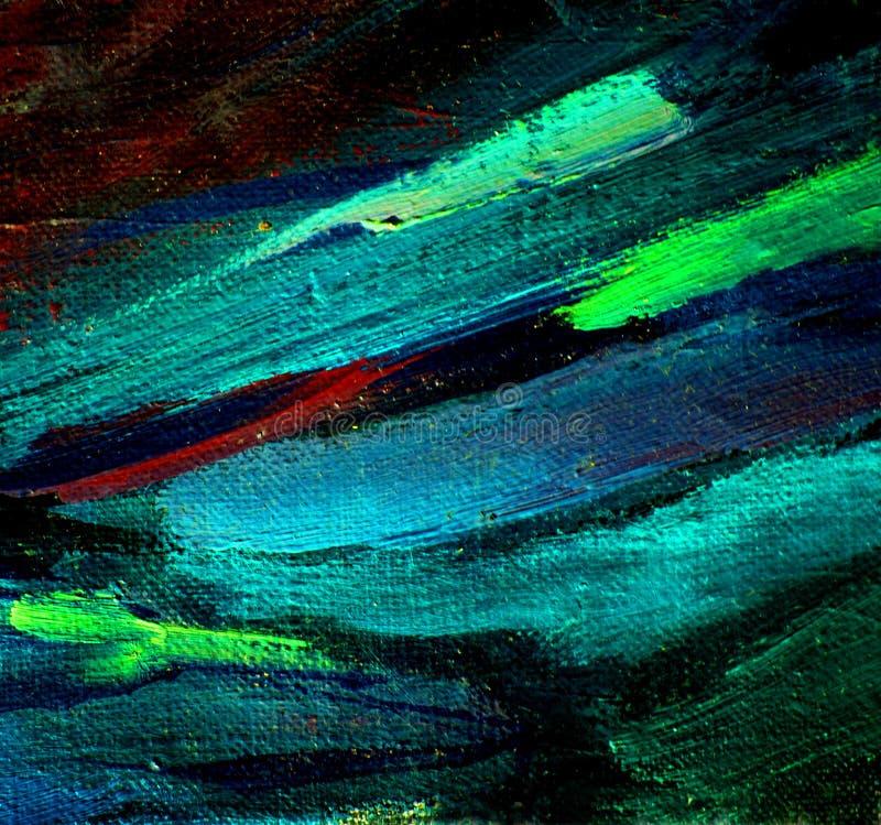 Abstrakcjonistyczny chaotyczny obraz olejem na kanwie, ilustracja, backg zdjęcie royalty free