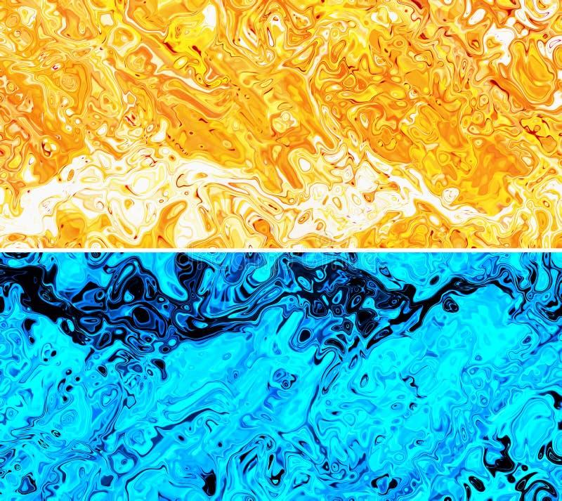 Download Abstrakcjonistyczny Ciekły Farby Tło Ilustracji - Ilustracja złożonej z remis, broszurka: 53786878