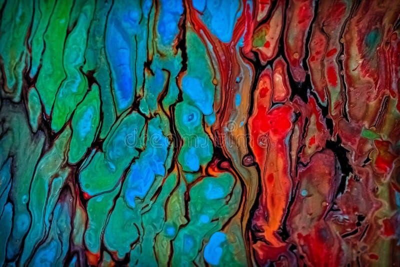 Abstrakcjonistyczny ciekły obraz z komórkami, zieleń obrazy royalty free