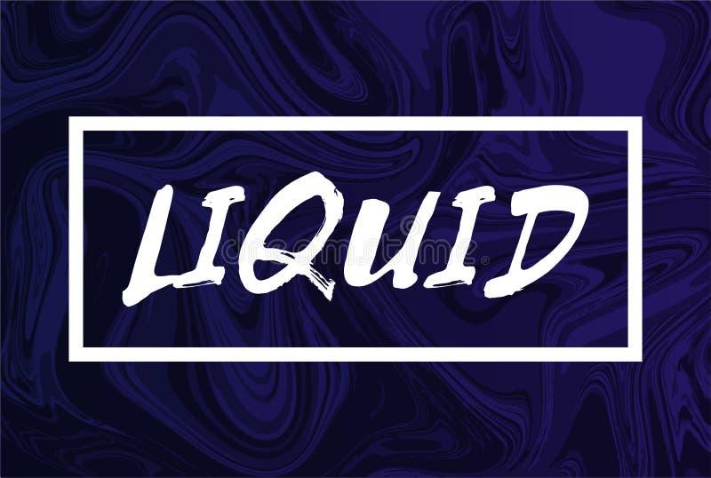 Abstrakcjonistyczny ciekły tło z tekstem Projekt modny upłynnia pokrywę purpura kolor zdjęcie stock