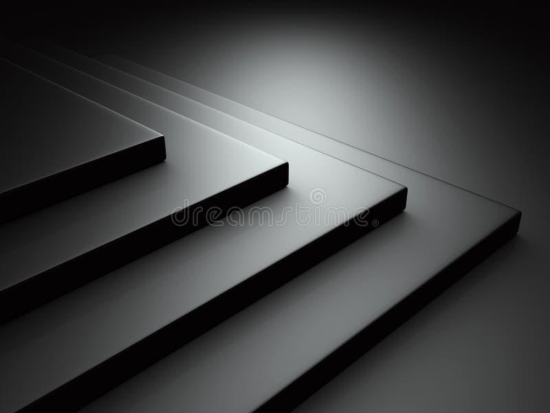 Abstrakcjonistyczny Ciemnego czerni Kruszcowy tło ilustracja wektor