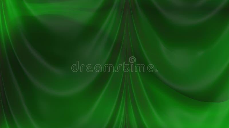 Abstrakcjonistyczny Ciemnozielony atłas Drapuje ilustracji