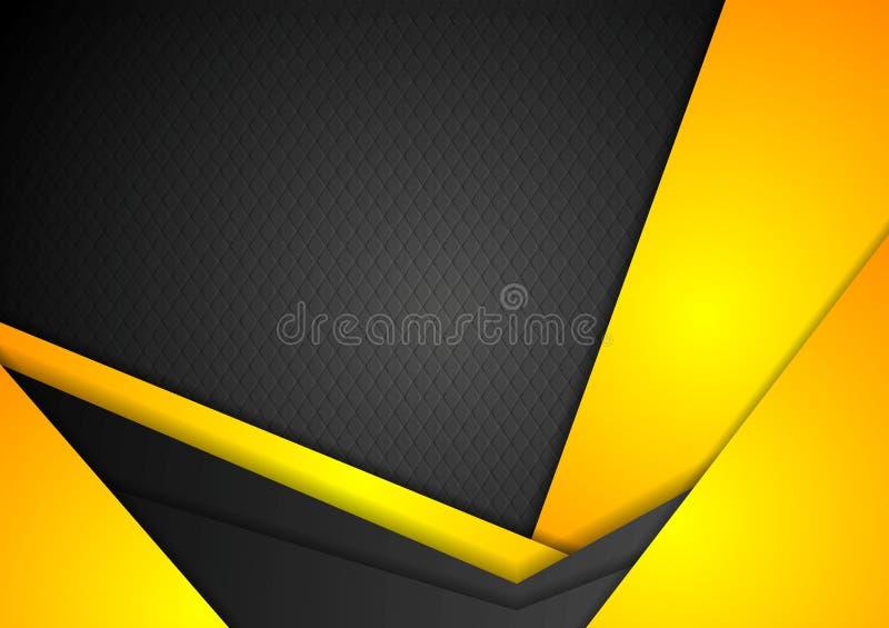 Abstrakcjonistyczny ciemny żółty korporacyjny tło royalty ilustracja