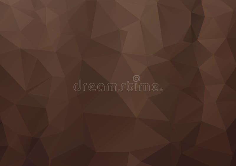 Abstrakcjonistyczny Ciemny Brown mozaiki wektorowy abstrakcjonistyczny szablon Trójgraniasta geometryczna próbka z gradientem Tró ilustracja wektor