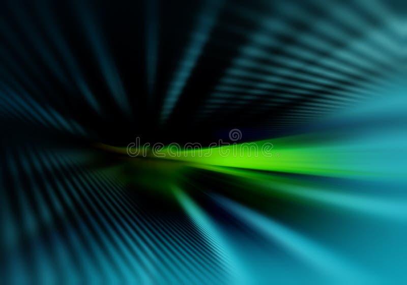 Abstrakcjonistyczny ciemny geometryczny tło z prostymi równoległymi cieniami linie zaświeca w górę ciemnawego światła z ilustracji