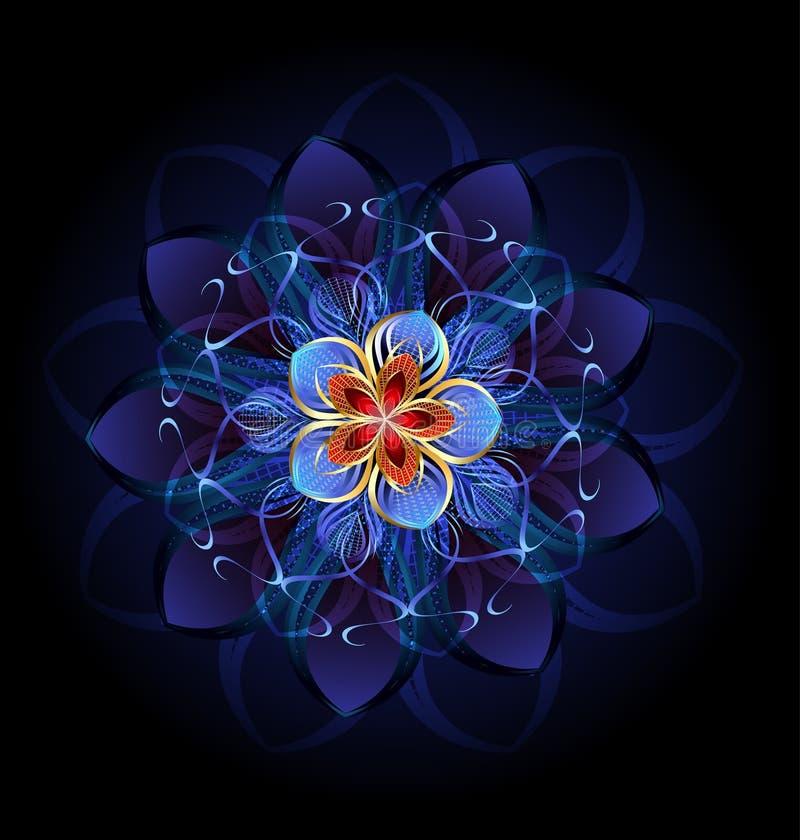 Abstrakcjonistyczny ciemny kwiat royalty ilustracja