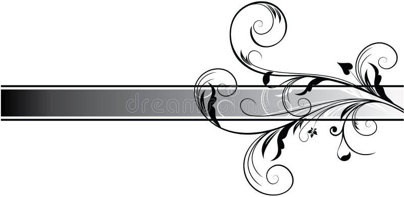 Abstrakcjonistyczny ciemny sztandar royalty ilustracja