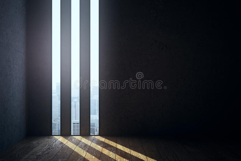 Abstrakcjonistyczny ciemny wnętrze ilustracja wektor