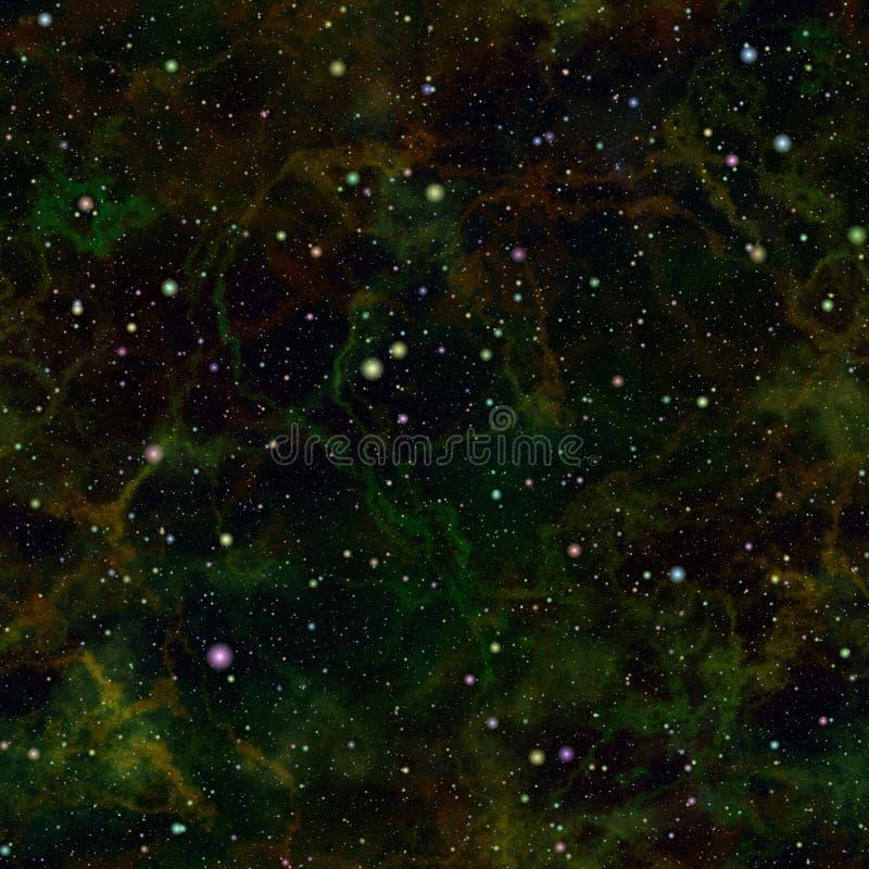 Abstrakcjonistyczny ciemny wszechświat nocne niebo gwiaździsty Mgławica kosmos Galaktyczny tekstury tło ilustraci bezszwowy linow obraz stock
