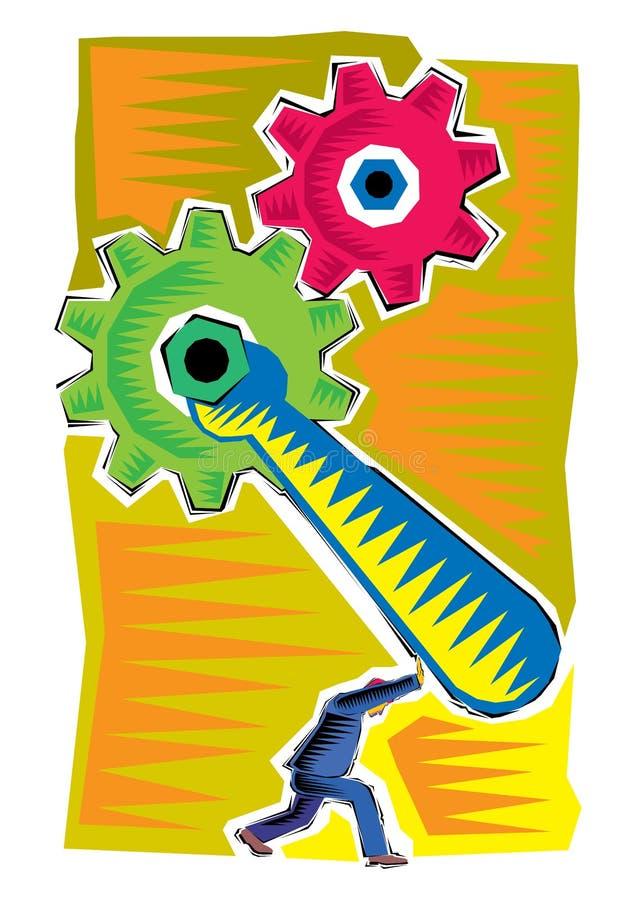 Abstrakcjonistyczny Clipart Biznesowy ilustracyjny przemysłowy proces ilustracji