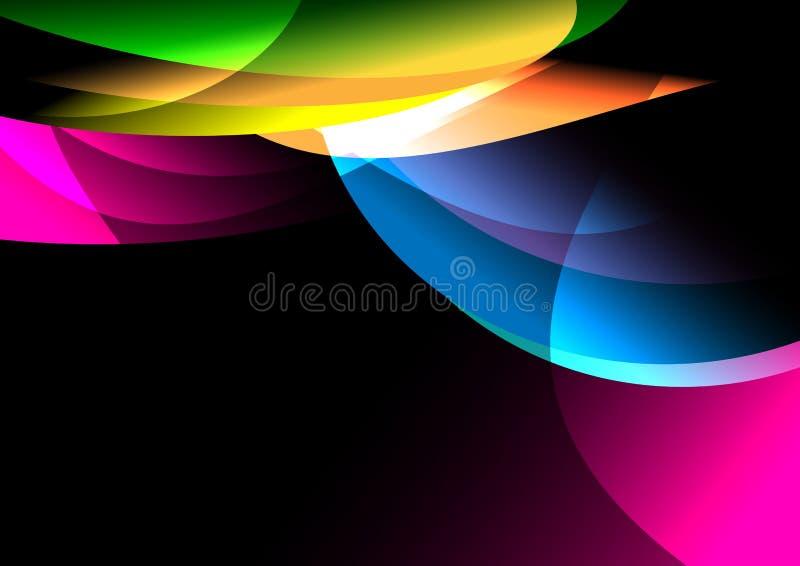abstrakcjonistyczny colorfut tło royalty ilustracja