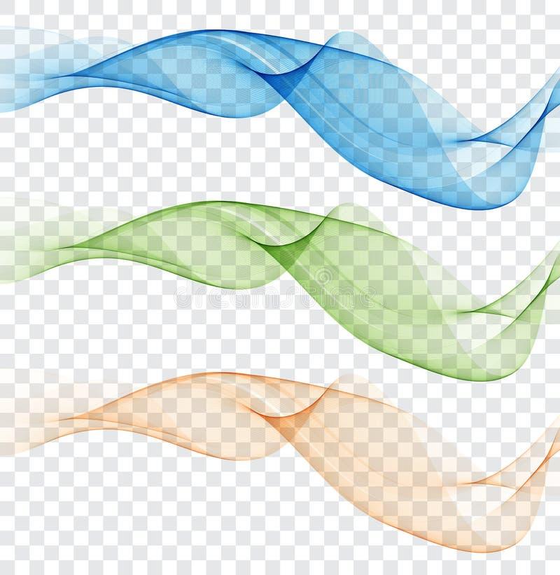 Abstrakcjonistyczny colourful falowy element dla projekta Delikatni kolory Cyfrowej częstotliwości śladu wyrównywacz royalty ilustracja