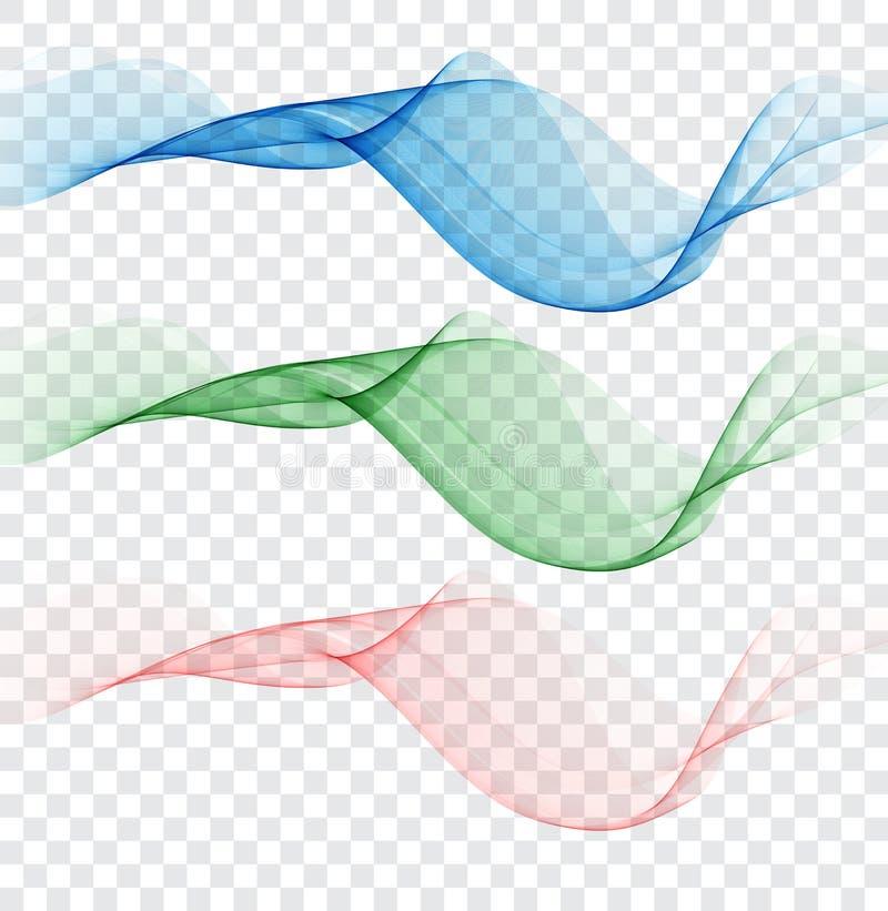 Abstrakcjonistyczny colourful falowy element dla projekta Delikatni kolory Cyfrowej częstotliwości śladu wyrównywacz ilustracji