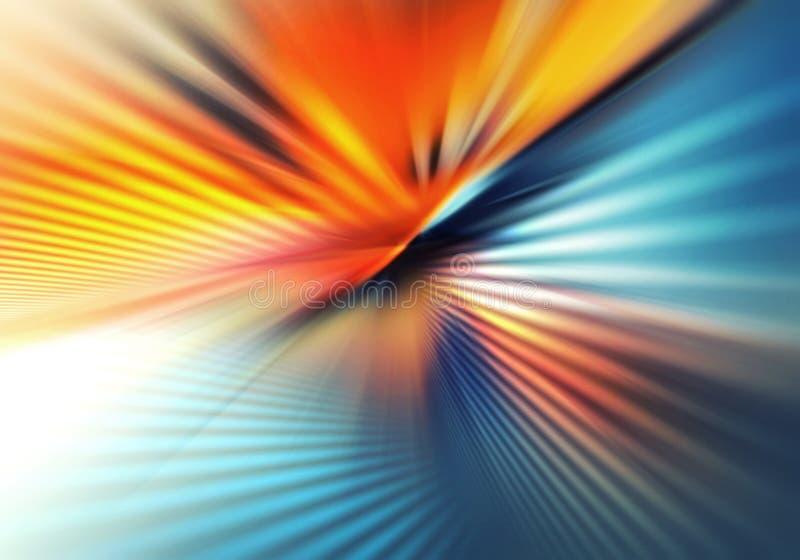 Abstrakcjonistyczny colourful tło z światłem i krzyżować liniami lekki podesłanie w różnych kierunkach i samolotach ilustracji