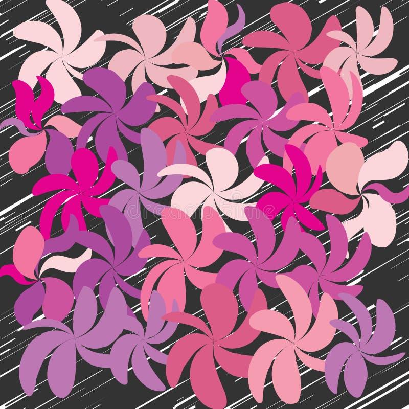Download Abstrakcjonistyczny Cudacki Kwiatu Tło Ilustracja Wektor - Ilustracja złożonej z czerń, wiosna: 106920143