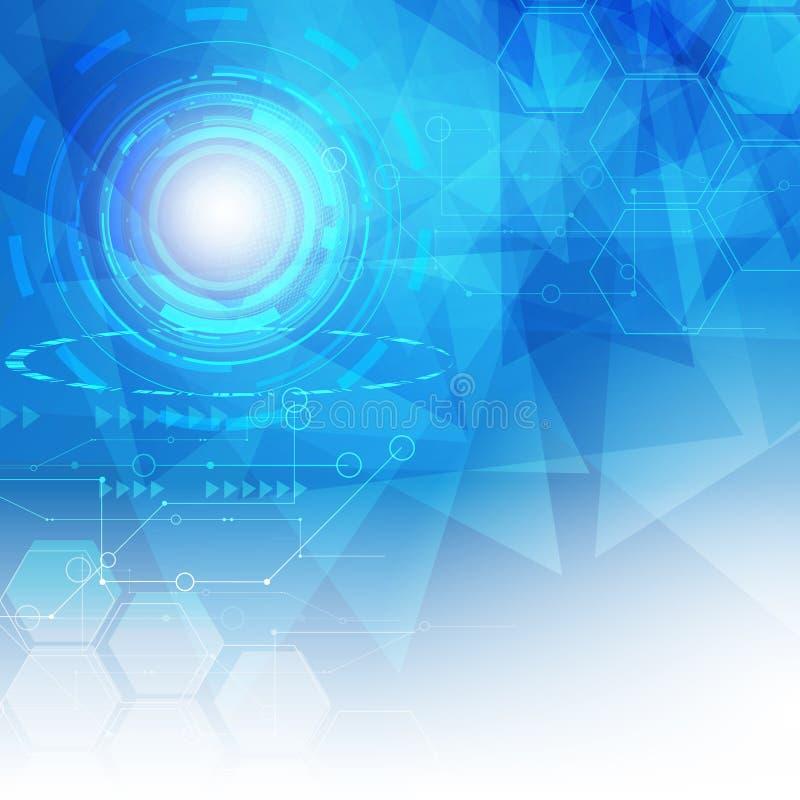 Abstrakcjonistyczny Cyfrowego hitech technologii tło ilustracji
