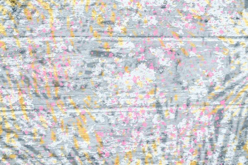 Abstrakcjonistyczny cyfrowy farby menchii, czerni, szarość i koloru żółtego tło, fotografia royalty free