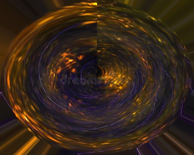 Abstrakcjonistyczny cyfrowy fractal, fantazja projekt błyszczący, płomień, przepływ ilustracja wektor