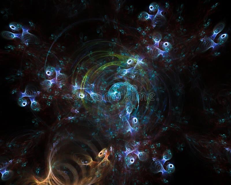 Abstrakcjonistyczny cyfrowy fractal karty przepływ, dynamiczny ilustracji