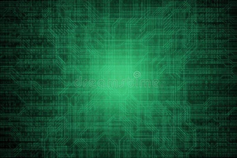 Abstrakcjonistyczny cyfrowy tło z binarnym kodem Hackery, darknet, rzeczywistość wirtualna i fantastyka naukowa, ilustracji