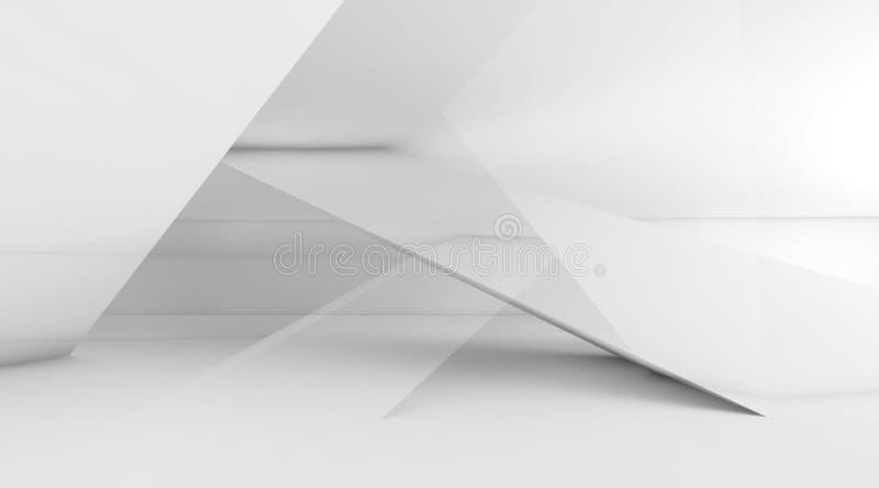 Abstrakcjonistyczny cyfrowy tło, białe struktury, 3d royalty ilustracja