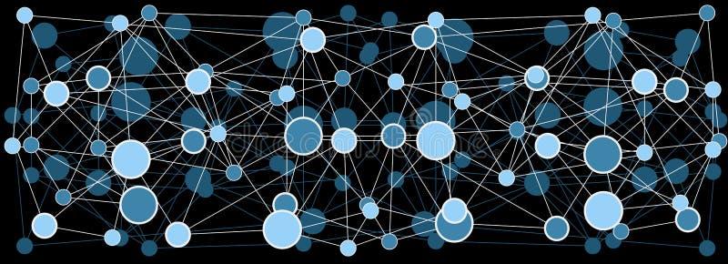 Abstrakcjonistyczny cząsteczkowej struktury tło ilustracja wektor