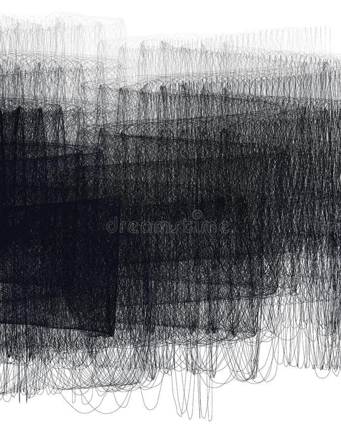 Abstrakcjonistyczny czarno biały ocieniony tło ilustracji