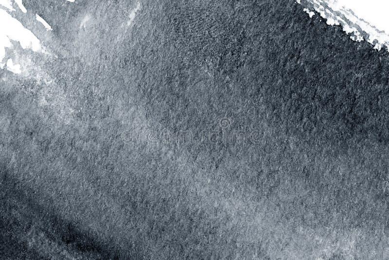 Abstrakcjonistyczny czarny akwarela atramentu punkt odizolowywający na białym tle ilustracji