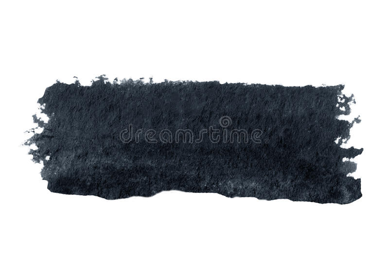 Abstrakcjonistyczny czarny akwarela atramentu punkt odizolowywający na białym tle royalty ilustracja