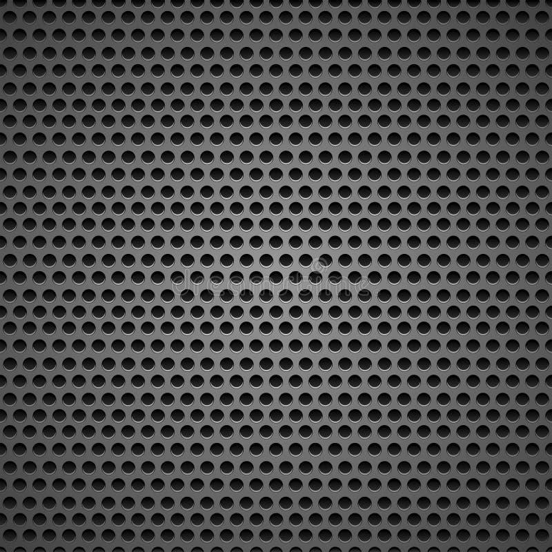 Abstrakcjonistyczny czarny głośnikowy grilla tło royalty ilustracja