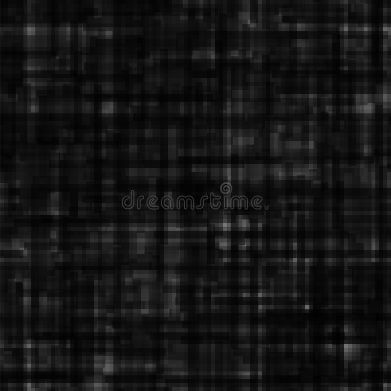 Abstrakcjonistyczny czarny grunge tło Cyfrowej tekstura w techno stylu ilustracja wektor