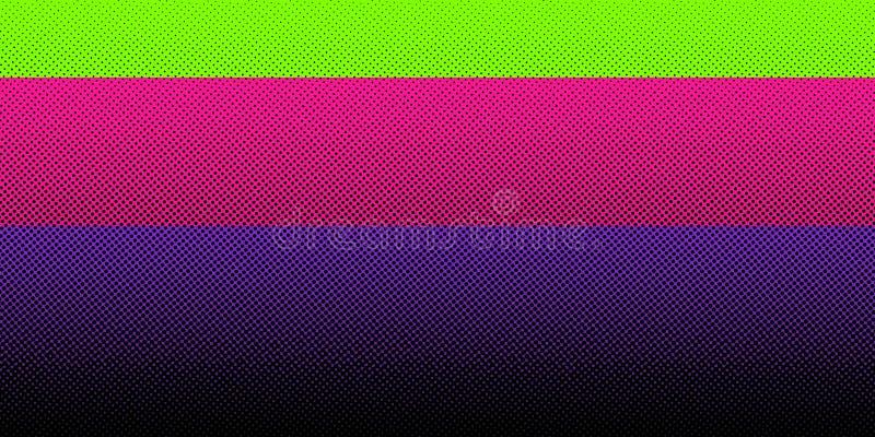 Abstrakcjonistyczny czarny halftone gradient na jaskrawym koloru tle Kropka wz?r Ty możesz używać dla szablon broszurki, sztandar ilustracja wektor
