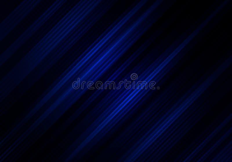 Abstrakcjonistyczny czarny i błękitny koloru tło z diagonalnymi lampasami Geometryczny minimalny wz?r Ty możesz używać dla okładk ilustracja wektor