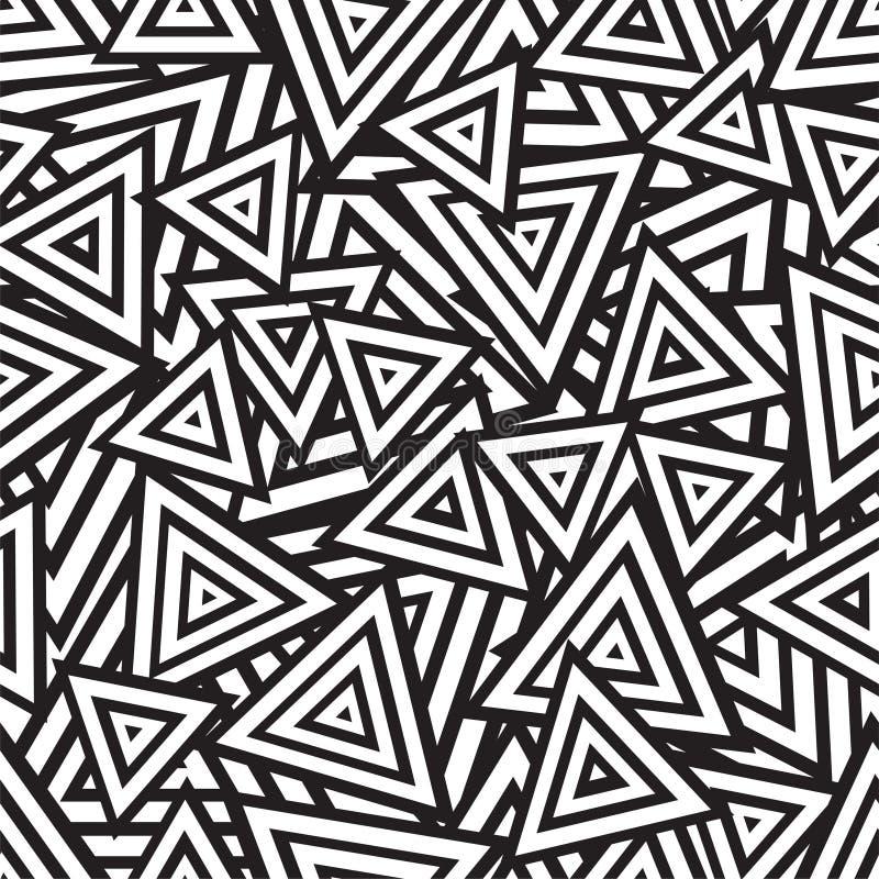 Abstrakcjonistyczny czarny i biały bezszwowy wzór. Wektor ilustracja wektor