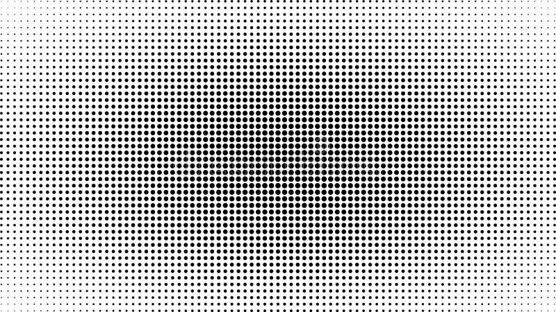 Abstrakcjonistyczny czarny i biały kropki tło Komiczny wystrzał sztuki styl Lekki skutek Gradientowy tło z kropkami royalty ilustracja