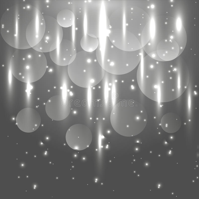 Abstrakcjonistyczny czarny i biały lekki rozjarzony tło ilustracja wektor