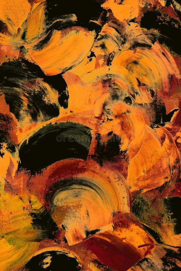abstrakcjonistyczny czarny kolor żółty ilustracja wektor