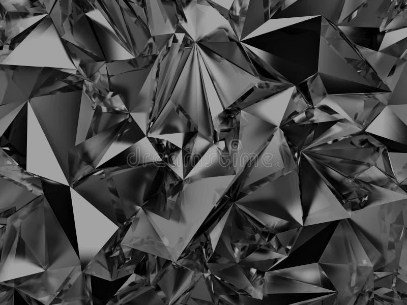 Abstrakcjonistyczny czarny krystaliczny tło ilustracja wektor