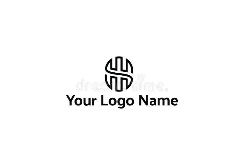 Abstrakcjonistyczny czarny logo projekt ilustracja wektor