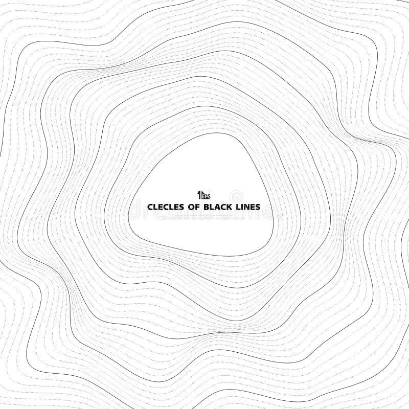 Abstrakcjonistyczny czarny okrąg linii siatki pokrywy projekt Ilustracyjny wektor eps10 royalty ilustracja