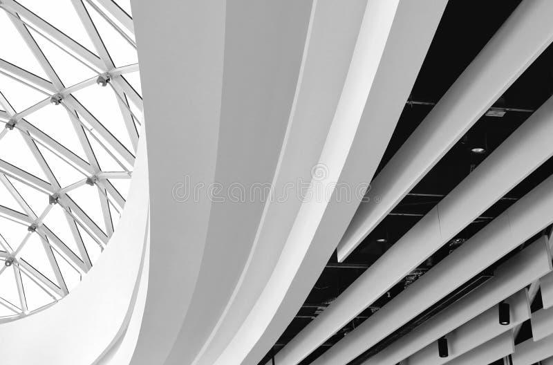Abstrakcjonistyczny czerep współczesna architektura zdjęcie stock